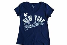 G-III 4 Her By Carl Banks Large New York Yankees Navy Blue T-Shirt Tee Shirt