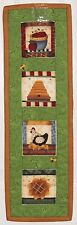 Country Chicken Apples Flower & Bees Handmade Wallhanging Quilt