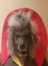 Vintage 90s Latex Scary Halloween Wolf Mask + gloves
