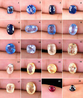 Natural Sri Lankan Sapphire Collection Many Shapes & Sizes Dont Miss