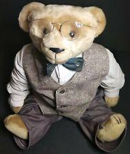 "Vtg Stearnsy Bear 23"" Teddy Bear The Reporter Covering The Depression Plush Rare"