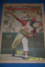 1968 Sporting News CLEVELAND Indians LUIS TIANT No Label RED SOX El Tiante FREE