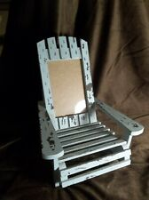BEACH CHAIR PICTURE FRAME BLUE SHABBY SHEEK STYLE REAL CUTE ADIRONDACK STYLE