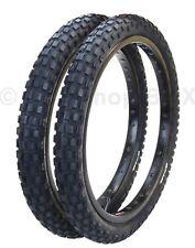 """Cheng Shin C183 KNOBBY dirt old school BMX bicycle tires 20"""" X 2.125"""" PAIR BLACK"""