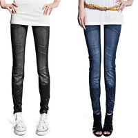 femmes jeans fin SKINNY leggings extensible pantalon