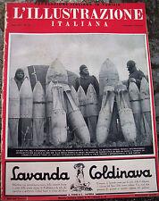 1938 'ILLUSTRAZIONE ITALIANA' POPOLAZIONE ITALIANA IN TUNISIA AUTARCHIA MINERALI
