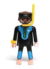 Playmobil Figure Ocean Male Snorkeler Diver w/ Wetsuit Mask Snorkel Watch 3953
