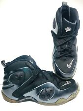 NIKE ZOOM ROOKIE Penny Mens 12 Black ANTHRACITE 472688-010 foamposite Basketball