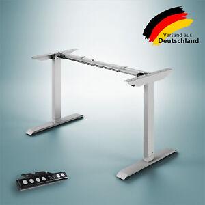 Elektrisch Höhenverstellbarer Schreibtisch Tischgestell für Home Office Grau
