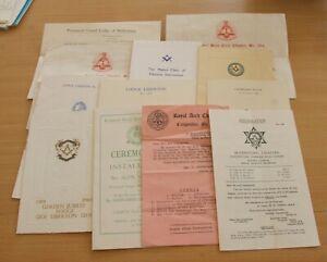 Masonic Assortment of Masonic Paperwork   (STFH)