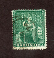 Barbados - SG# 58 Used / wmk large star  -   Lot 1220802