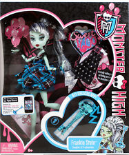 "Monster High Sweet 1600 FRANKIE STEIN 10.5"" doll fashion birthday Frankenstein"