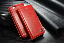 For Apple iPhone 6-  Leather  Case Magnet Flip- Red