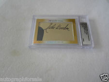 John Wooden Jamaal Wilkes 2014 Leaf Masterpiece Cut Signature auto card 1/1 UCLA