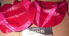 NEW 1992 SUZUKI KATANA 600 SEAT COVER SKINS Red & Pink SECOND LOOK MOTORCYCLE