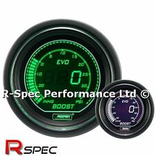 GENUINE Prosport 52mm Evo Green White Display LCD Digital Turbo Boost Gauge PSI