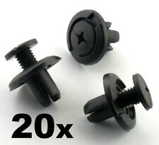 20x 8mm Screw Fit Honda Wheel Arch Lining / Splashguard & Bumper Clips Scrivets