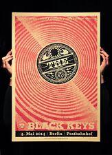 The Black Keys Berlin 2014 Siebdruck Gig Poster sehr Ltd Ed Artist Proof ROT