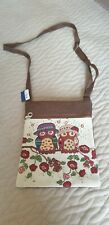Owl embroidery crossbody bag