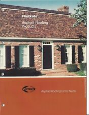 1982 FLINTKOTE Asphalt ROOFING Products Shingles Tiles ASBESTOS Vintage Catalog