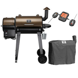 Z GRILLS ZPG-450A Wood Pellet Grill BBQ Smoker Digital Control with Smart Probe
