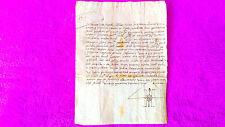Document Manuscrit, Bateig Du 1570, Baptisme. 26X15. Haute Finition