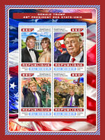 Niger 2016 MNH Donald Trump US Presidents 4v M/S Statue of Liberty Stamps