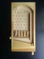 "Vintage Handmade Wooden Bagatelle Game-The Forerunner of Pinball 10.5"""
