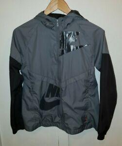 Nike Girls Sz. XL Hooded Gray Windbreaker Swing jacket 830506-065