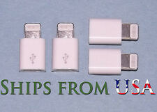 4PCS White Apple 8-Pin to Micro USB OEM Adapter for iPhone6-5-5S/iPad Mini/Air