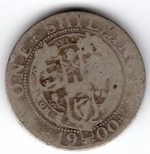 1900 12d 1s Silver ONE SHILLING twelve pence Queen Victoria Old Head