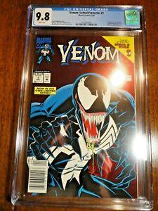 Venom: Lethal Protector #1 Rare Newsstand Variant CGC 9.8 NM/M Red Foil Marvel