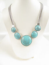 Kenneth Cole New York Turquoise Round Stone Frontal Necklace $85