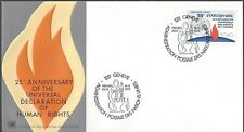United Nations Geneva Fdc - Human Rights 25th Anniversary - Cacheted - Nice!