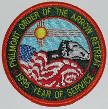 Philmont Scout Ranch OA8a 1995 Order of the Arrow Retreat Pocket Patch  BSA