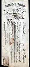 """SAINT-JUNIEN (87) USINE du BAS-MOULIN /  PAPIERS D'EMBALLAGE """"DUSSOULIER"""" 1917"""