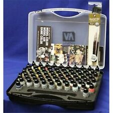 Vallejo Model Air Paint Set in Plastic Storage Case (72 Colors & Brushes) 71170