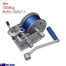 1000Kg Hand Winch 2200LB Webbing 8M 10/5/1:1 Boat Marine Trailer 4WD HD 99013006