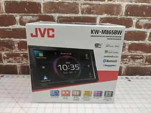 "JVC KW-M865BW 2-Din 6.8"" Bluetooth Wireless Car Play and Android Auto Receiver"