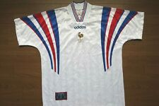 France Soccer Jersey Football Shirt adidas 100% Original  L EURO 1996 Away