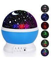 Adoric Night Lighting Lamp, Star Light Rotating Projector, 4 LED Bulbs 8 Modes