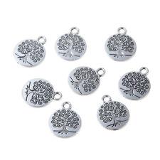 10Pcs Antique Silver Tree Of Life Charm Pendant Fit DIY Bracelet Necklace Making