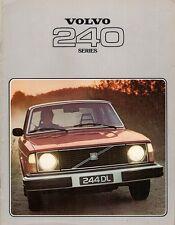 Volvo 240 Series 1977-78 UK Market Sales Brochure 244 245 DL DLE GL