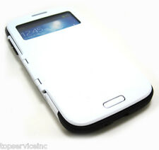 S-View Flip-Cover Case for Samsung Galaxy S4 , I9500  White.