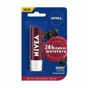 NIVEA Lip Balm, Fruity Blackberry Shine, 4.8gm