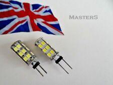 2 x G4 26SMD 3528 12Volt DC 2 Watt White LED Spot Light Bulbs - Genuine UK Stock