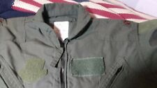 3 Military Aviation Flight Suits CWU-27/P Flyers Coveralls OD Green sz 42R BARS