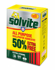 Solvite All Purpose Embossed Wallpaper Glue Adhesive Extra Strong Smooth Paste