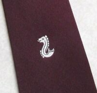 Vintage Tie MENS Necktie CRESTED Club Association Society 1980s by Macaseta