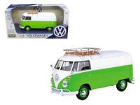 Motormax 79551 Volkswagen Type 2 T1 Delivery Van 1:24 Green White